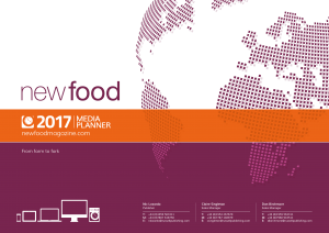 Cover image of the New Food media planner