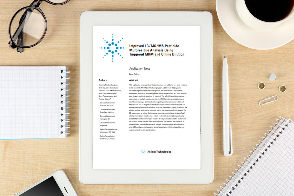 Agilent - Improved LC-MS-MS Pesticide - whitepaper