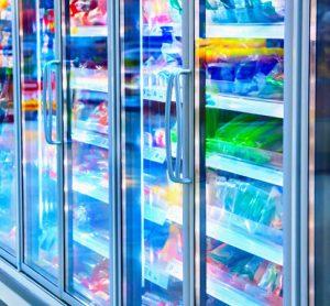 frozen food in freezers