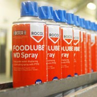 High performance NSF registered food grade lubricants in the FOODLUBE®