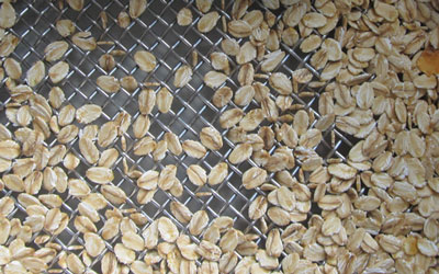 Incoming inspection of cereal flakes with sieve analysis