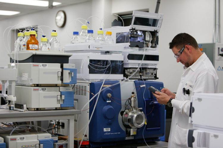 analytical testing at Nestle