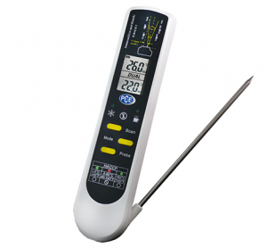HACCP temperature meter PCE-IR 100 for contact and non-contact measurement
