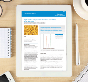Waters whitepaper Highly Sensitive Analysis of Polar Pesticides in Food Matrices on the Xevo TQ XS