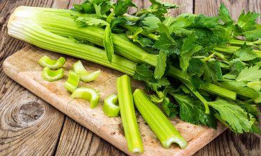 celery on chopping board