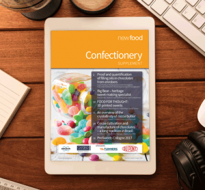 Confectionery in depth focus