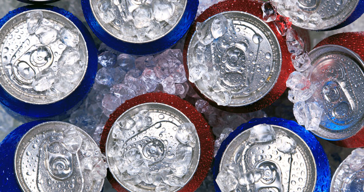 drinks cans