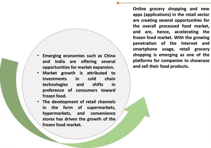 What's fuelling the development of the global frozen food