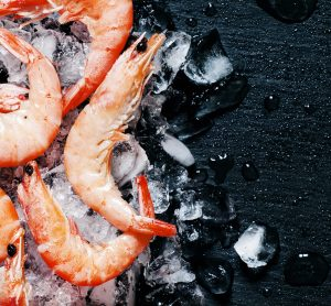 frozen crustaceans - prawns