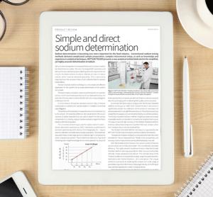 METTLER TOLEDO: Simple and direct sodium determination