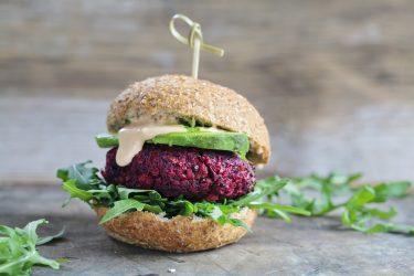 Meat-free burger